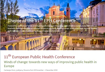 11th European Public Health Conference